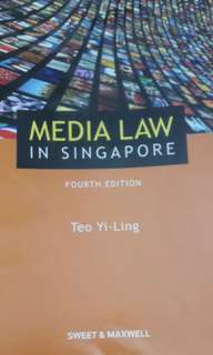 Media law in Singapore textbook