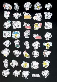 [Instock] 40 pcs Snoopy stickers Dog Scrapbook Stickers/ Planner Stickers #56 (Snoopy)