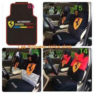 FERRARI CAR SEAT COVER & CARMAT