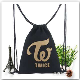 TWICE / BTS / BTS WINGS / WANNA ONE DRAWSTRING BAG / CANVAS BAG / CASUAL BAG (READY STOCK)