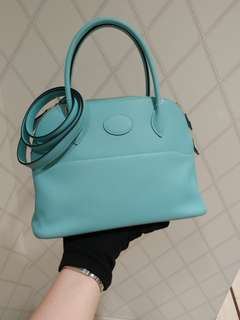 Hermes bolide 27 blue atoll X stamp