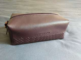 Cole Haan leather amenity / travel kit