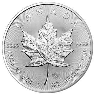 1 OZ Silver Canadian Maple Coin 2016