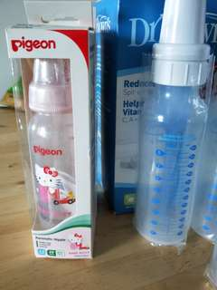 BNIB Pigeon and Dr Brown's bottles