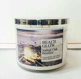 Bath and Body Works - Salted Oak Bonfire candle