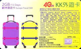 Travel sim Pro - KK Europe