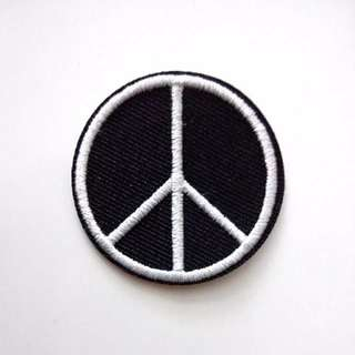 Peace Sign Logo Iron On Patch