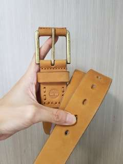 Authentic Timberland Leather Belt