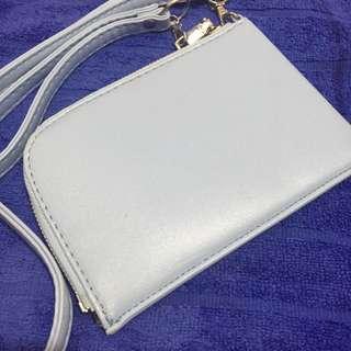 🚚 水藍 手提 掛脖 小包 零錢包 手機包