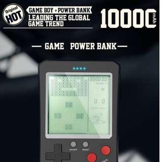 抖音爆款 懷舊遊戲機移動電源 便攜10000mAh俄羅斯方塊充電寶