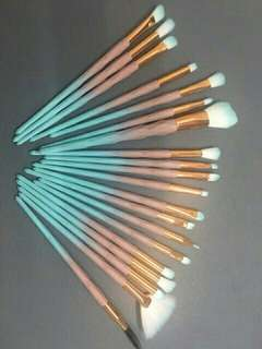 20pcs Matte Unicorn Brush Set