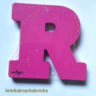 Wooden Alphabet 'R'