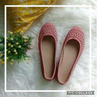 Flat shoes peach