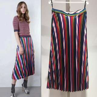 Colorful Pleated Skirt