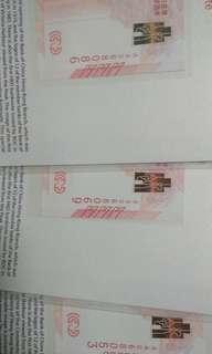 高價收中銀紀念鈔30連,三連,單張,各種紀念鈔