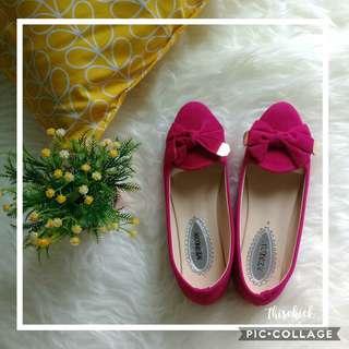 Flat shoes fuschia pink