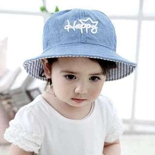 🚚 兒童淺藍牛仔漁夫帽
