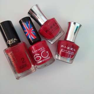 Take all imported red nail polish