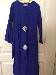 Sireh Pinang Girl Blue Baju Kurung