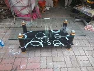 台南{舊箱子二手傢俱}玻璃茶几限送台南市區