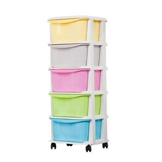 5-Tier Macarons/Sweet Color Drawer Cabinet
