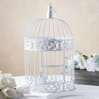 BN White Bird Cage Comes In 3 Sizes, Small, Medium & Large