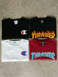 Champion, Trasher tees