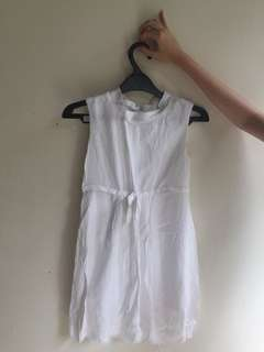 ZARA KIDS white dress