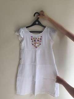 ZARA KIDS white dress with sequins