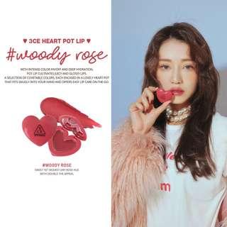3CE - 3CE HEART POT LIP #WOODY ROSE
