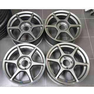 P1 Racing 16inch 4h 114 7jj off 35 original JAPAN