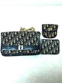 Great value! Vintage Christian Dior monogram set of 3