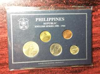 English Series 5-Coin Set 1958-1966