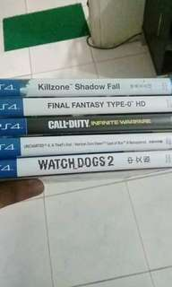PS4 GAMES, all in good condition