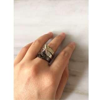 Cincin set (3 ring) stackable ukuran 6.5