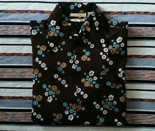 Vintage Indigo Floral LS Shirt RN18286