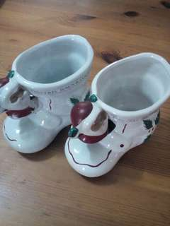Christmas Porcelain Holder