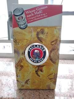 全新 1L Paulaner München 特大啤酒 柸 花瓶 裝飾品 廚具器皿