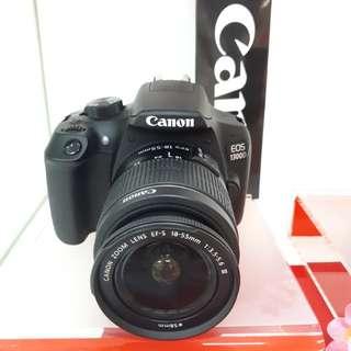 Kamera Canon Dslr 1300D Cash Back (Kredit Tanpa CC Bunga 0%)