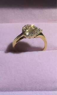 18K彩鑽戒指 彩鑽0.49ct 鑽石0.08ct 金重3.53g 特價$1980不議價