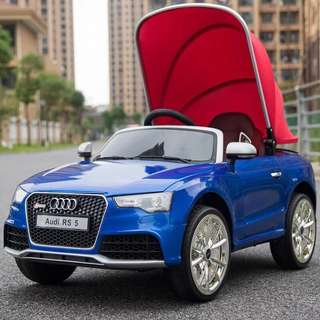 Blue Audi R5 Rechargeable Ride On Car