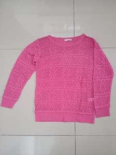 Outer pink rajut