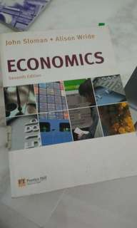 Economics Textbook by John Sloman and Alison Wride