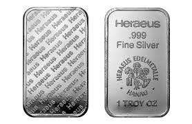Heraeus 1 OZ Silver Bar
