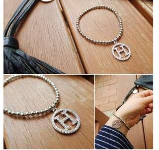 韓國東大門代購H鑽造型珠子圓珠手鍊