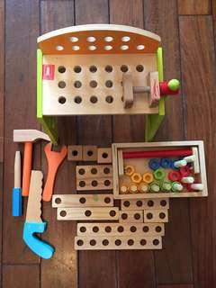 木製玩具功具箱