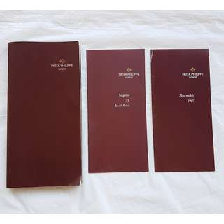 For Collector, a Rich History of Patek Philippe Watches, a set of 3 Booklets, over 115 pages of Patek Philippe Models, from April 1997, Authentic, Original, Rare Catalogue