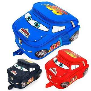 Car backpack for kids (red)