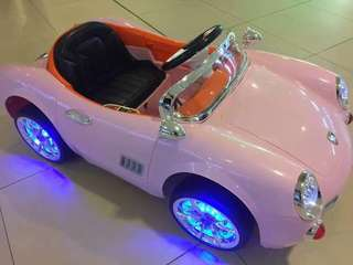 Pink Audi R5 Rechargeable Ride On Car