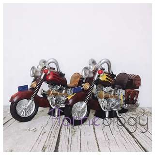 Motorcycle Coin Bank Zakka Vintage Home Table Deco Gift